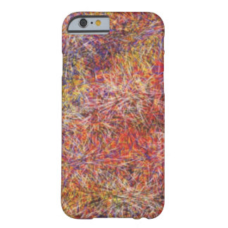 Chaotic abstract multicolored pattern barely there iPhone 6 case