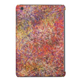 Chaotic abstract multicolored pattern iPad mini retina case