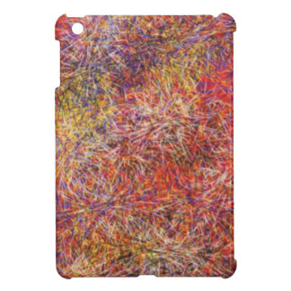 Chaotic abstract multicolored pattern case for the iPad mini