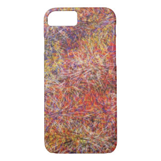 Chaotic abstract multicolored pattern iPhone 8/7 case