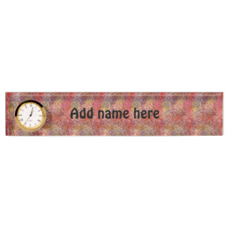 Chaotic abstract multicolored pattern nameplate