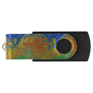 Chaotic and ugly pattern swivel USB 3.0 flash drive