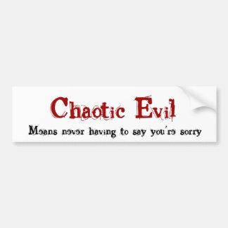 Chaotic Evil Bumper Sticker