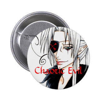 Chaotic Evil Pinback Buttons