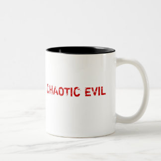CHAOTIC EVIL, How do you feel today? Two-Tone Mug