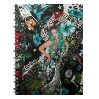 Chaotic Garden Spiral Notebook