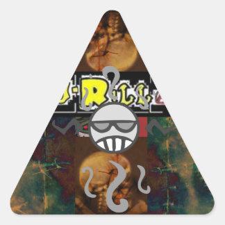 Chaotic J-Rilla and Skull Triangle Sticker