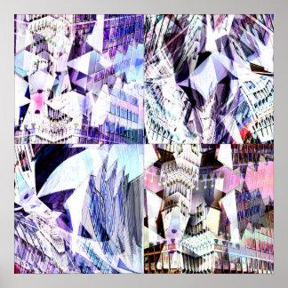 Chaotic Margins Print