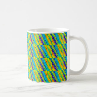 Chaotic Neon Colors Abstract Patterns Coffee Mug