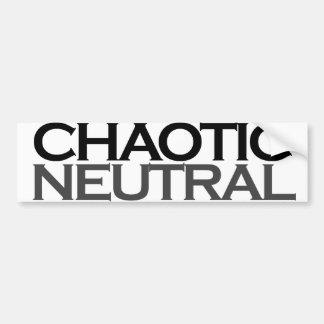 Chaotic Neutral Geek Bumper Stickers