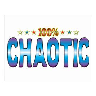 Chaotic Star Tag v2 Postcard