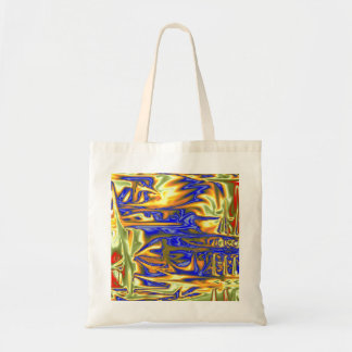 Chaotic ugly pattern tote bag