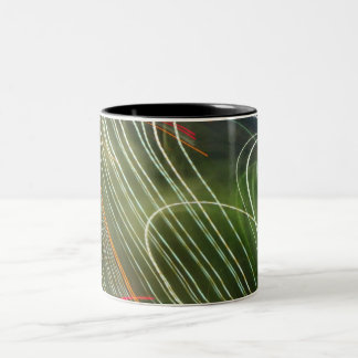chaotic urban lights coffee mug
