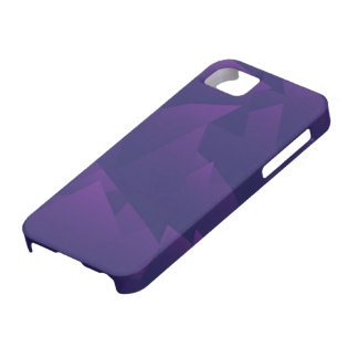 Chaotic Violet Triangles Barely There iPhone 5 Case