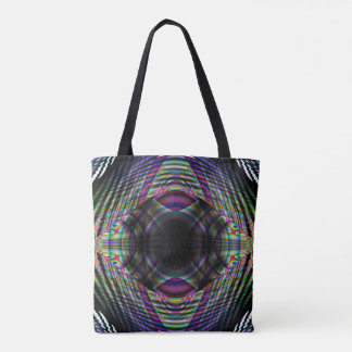 Chaotik3D Psychedelic AllOver Print Tote Bag 00003