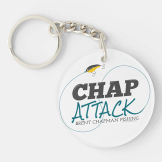 Chap Attack with Fishing Lure - Brent Chapman Single-Sided Round Acrylic Key Ring