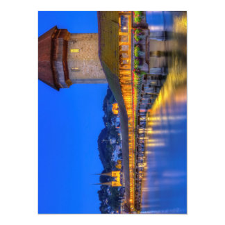 Chapel bridge, Kapellbrucke, Lucerne, Switzerland 14 Cm X 19 Cm Invitation Card