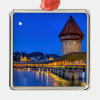 Chapel bridge, Kapellbrucke, Lucerne, Switzerland Christmas Ornament