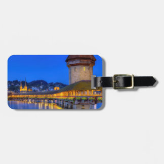 Chapel bridge, Kapellbrucke, Lucerne, Switzerland Luggage Tag