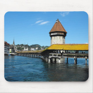 Chapel Bridge, Lucerne, Switzerland Mouse Pad