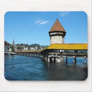 Chapel Bridge, Lucerne, Switzerland Mouse Pad