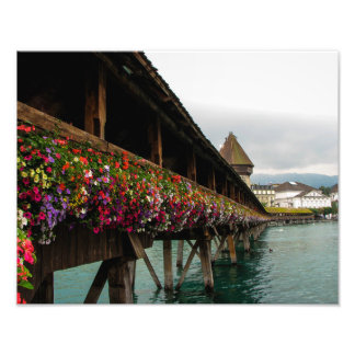 Chapel Bridge, Lucerne, Switzerland - Photo Print