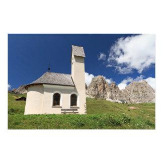 chapel in Gardena pass Customized Stationery