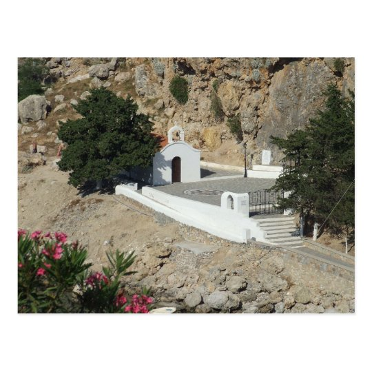 Chapel, St Paul's Bay, Lindos, Rhodes. Postcard