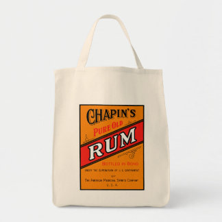 Chapins Pure Old Rum Label Grocery Tote Bag