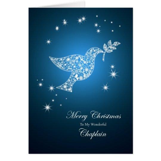 Chaplain, Dove of peace Christmas card