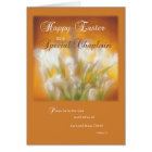 Chaplain Happy Easter Lilies with Cross Card