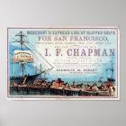 Chapman Clipper Ship Historical Repro Poster