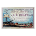Chapman Clipper Ship Historical Repro Poster