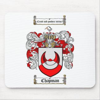 CHAPMAN FAMILY CREST -  CHAPMAN COAT OF ARMS MOUSE MAT