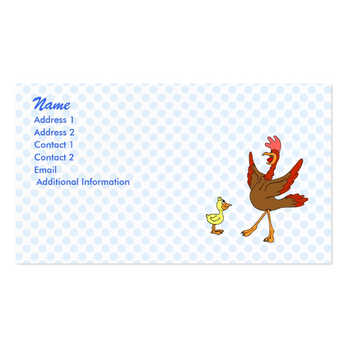 Chappy & Chippy chicken Pack Of Standard Business Cards