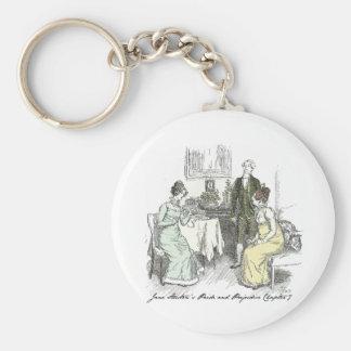 Chapter 7 Hugh Thomson Jane Austen Basic Round Button Key Ring