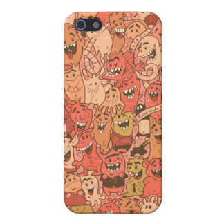 Character Art 3 Sepia iPhone 5 Cases