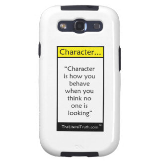 Character... Galaxy SIII Cover