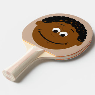 Character Face (black ethnic) Ping Pong Paddle