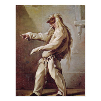 Character from the Commedia dell'Arte Postcard