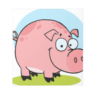Character Happy Pig Notepad