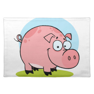 Character Happy Pig Placemats