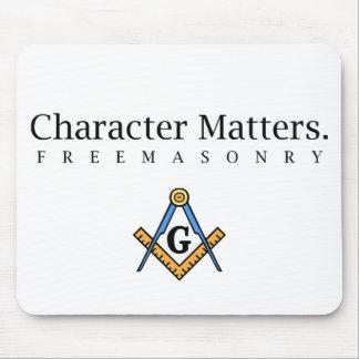 Character Matters.  Freemasonry Mouse Mat