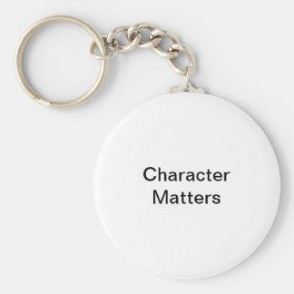 Character Matters Key Ring