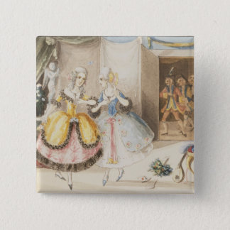 Characters from 'Cosi fan tutte' by Mozart, 1840 15 Cm Square Badge