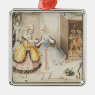 Characters from 'Cosi fan tutte' by Mozart, 1840 Christmas Ornament