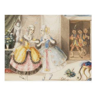 Characters from 'Cosi fan tutte' by Mozart, 1840 Postcard