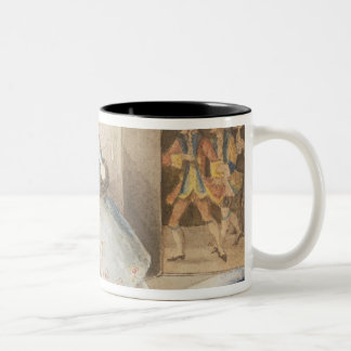 Characters from 'Cosi fan tutte' by Mozart, 1840 Two-Tone Coffee Mug