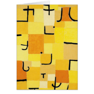 Characters in Yellow Abstract Paul Klee Card
