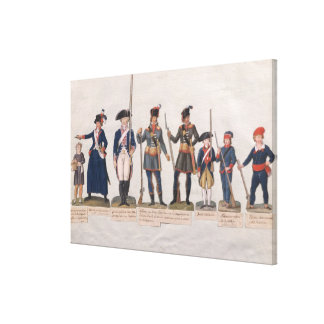 Characters of the French Revolution Canvas Print